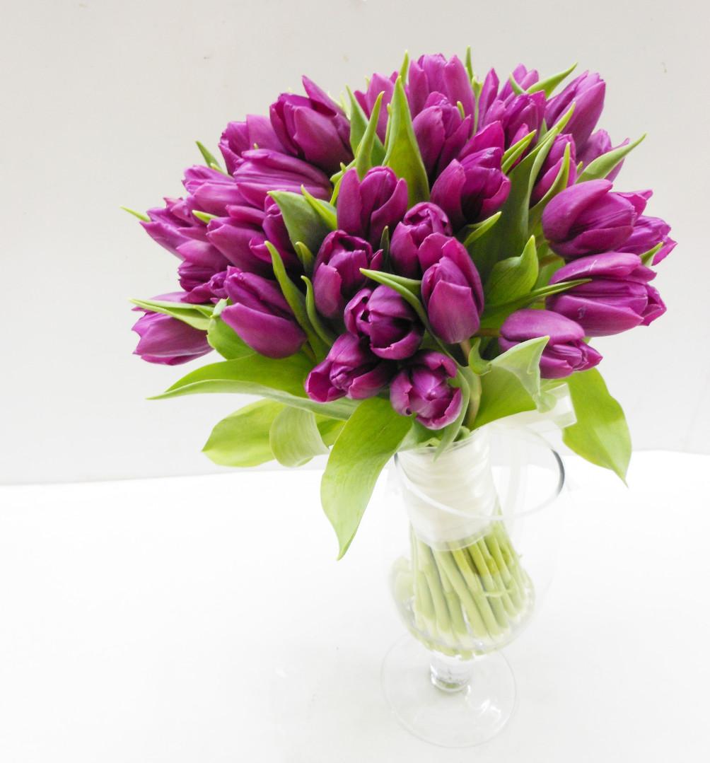 Доставка цветов-сирень тюльпанов, одиночных